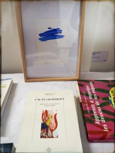 Livres sur le dessin d'enfant Expo ESDAC 2018 - Crédit @Christelle Calmettes