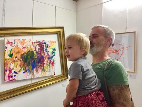 Père et fils Expo ESDAC 2018 - Crédit @Stéphane Salord