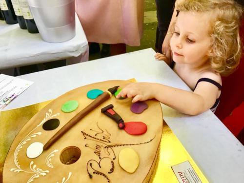 Le gâteau palette Expo ESDAC 2018