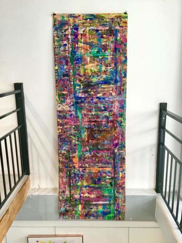 Mur de couleurs Expo ESDAC - Crédit @Christelle Calmettes
